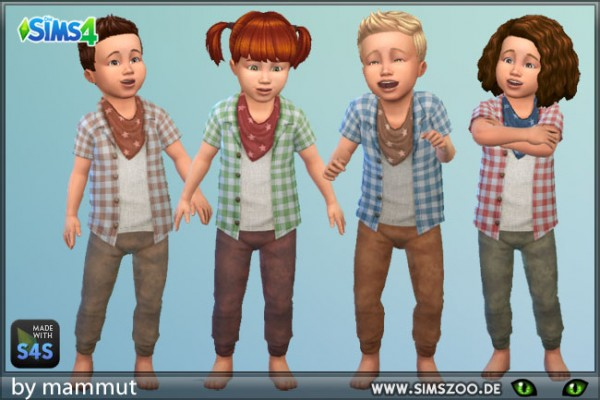 Blackys Sims 4 Zoo: Top and Pants Wildwest 1 by mammut