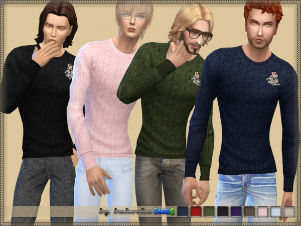 The Sims Resource: Sweater Male by bukovka