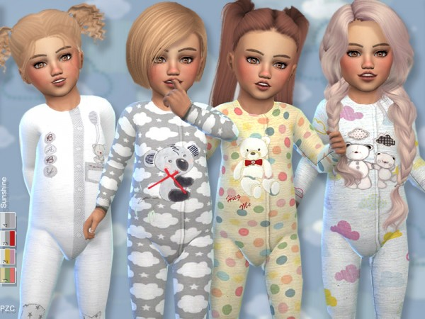 The Sims Resource: Sunshine Toddler Onesie Collection by Pinkzombiecupcakes
