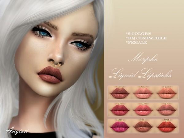 The Sims Resource: Morphe Liquid Lipsticks by ANGISSI