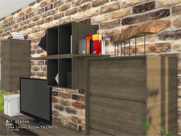 The Sims Resource: Lena Livingroom TV Units by ArtVitalex