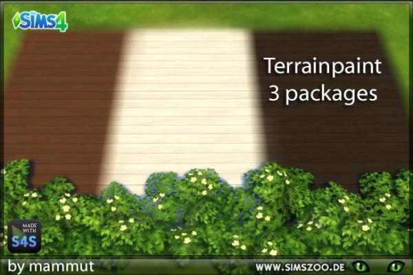 Blackys Sims 4 Zoo: Hardwood terrain paints by mammut