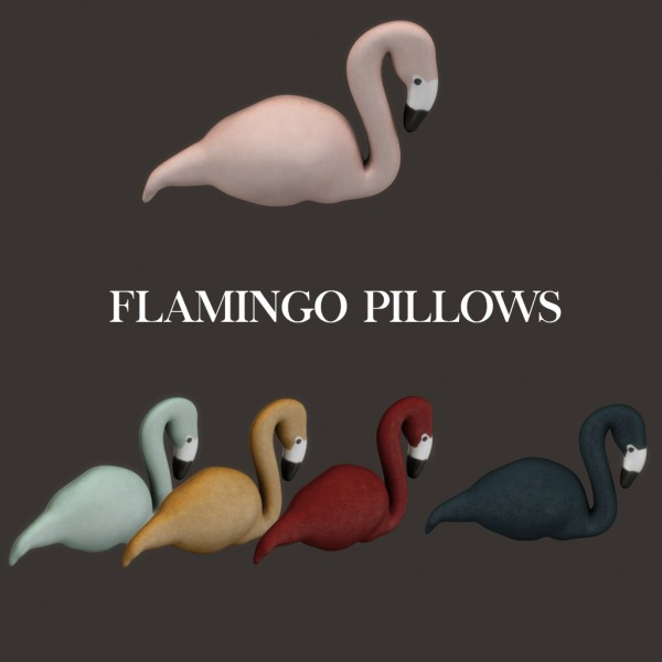 Leo 4 Sims: Flamingo pillows
