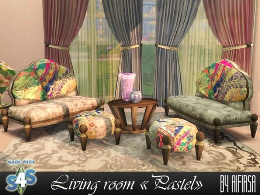 Aifirsa Sims: Livingroom Pastel