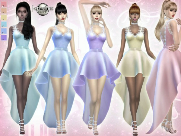The Sims Resource Aimi Dress By Jomsims Sims 4 Downloads