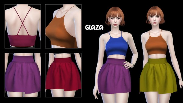 All by Glaza: Top 09 and skirt 01