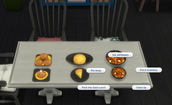 Mod The Sims: Louisiana Style Recipes 2   Cornbread, Crabcake and Jambalaya by icemunmun