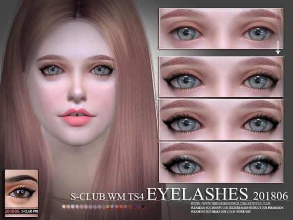 The Sims Resource: Eyelashes 201806 by S Club