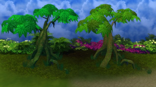 Mod The Sims: Mossy Jungle Trees by Snowhaze