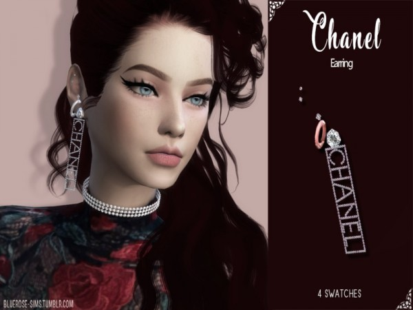 The Sims Resource: Designer Earring by BlueRose sims