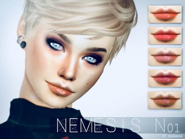 The Sims Resource: Shimmering Lipgloss N01 by Nemesis