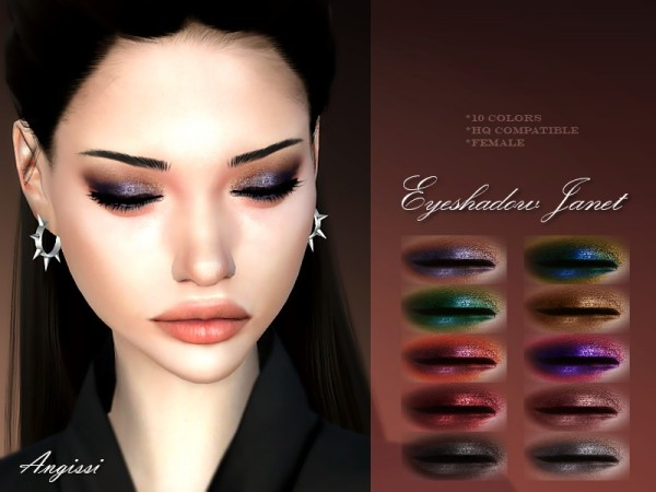 The Sims Resource: Eyeshadow Janet by ANGISSI
