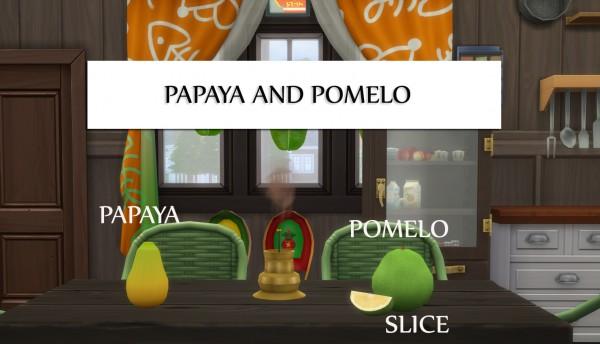 Mod The Sims: Harvestable Papaya and Pomelo by icemunmun