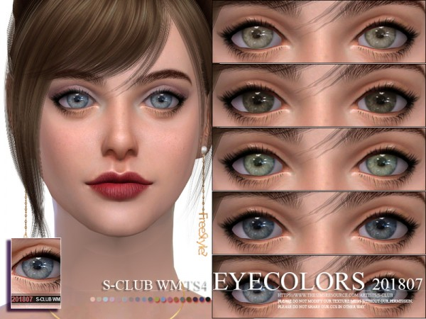 The Sims Resource: Eyecolors 201807 by S club