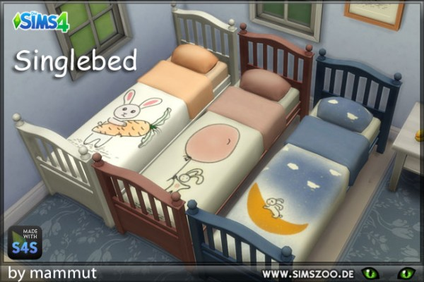 Blackys Sims 4 Zoo: Single bed Spring by mammut
