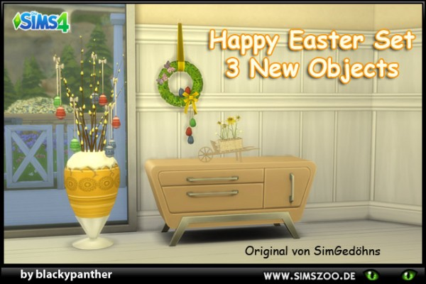 Blackys Sims 4 Zoo: Happy Easter Set by blackypanther