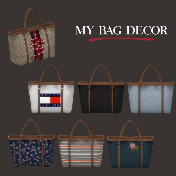 Leo 4 Sims: My bag decor
