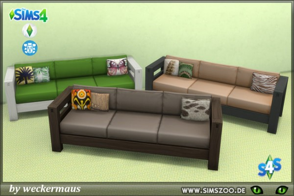 Blackys Sims 4 Zoo: Jungle fever sofa by weckermaus
