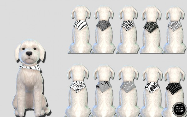 MSQ Sims: Small dog bandansa