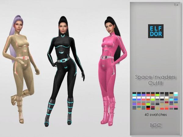 Elfdor Space Invaders Outfits Sims 4 Downloads