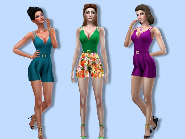 The Sims Resource: Betty romper by Simalicious
