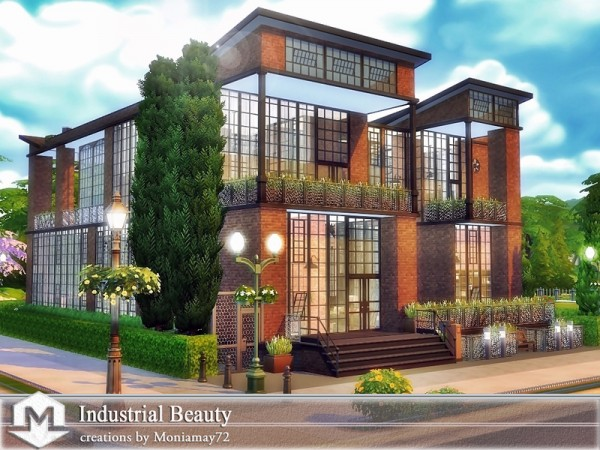 The Sims Resource: Industrial Beauty house by Moniamay72
