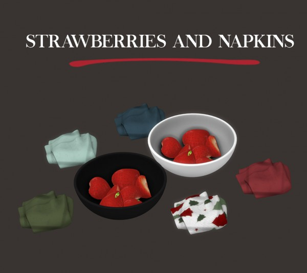 Leo 4 Sims: Stawberries and napkins