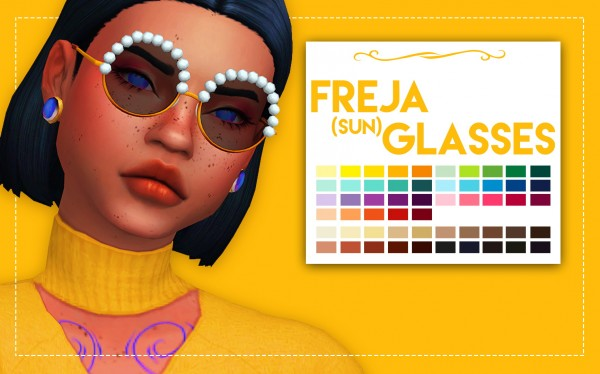 Simsworkshop: Freja Glasses and Sunglasses by Weepingsimmer