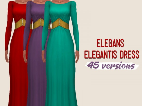 Simsworkshop: Elegans Elegantis Dress by midnightskysims