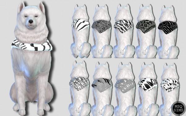MSQ Sims: Large Dog Bandanas