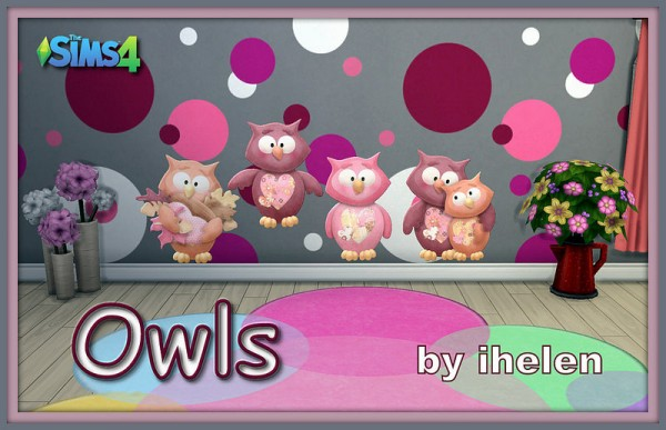 Ihelen Sims: Owls stickers