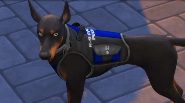 Mod The Sims: K 9 Officer Vest and Collar by EmilitaRabbit