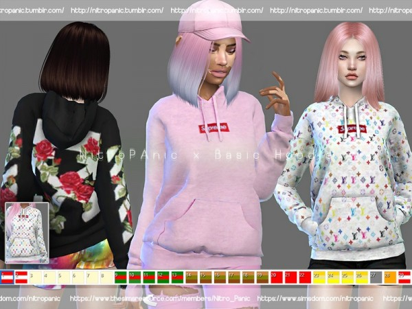 the sims resource basic hoodie by nitro panic sims 4. Black Bedroom Furniture Sets. Home Design Ideas