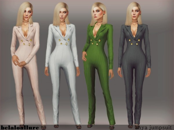 The Sims Resource Anya Jumpsuit By Belal1997 Sims 4