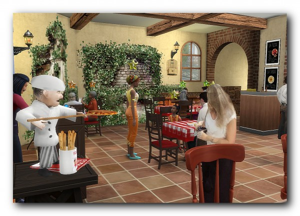 Architectural tricks from Dalila: Italian restaurant pizzeria  Dvorik