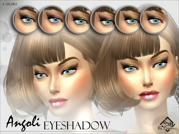 The Sims Resource: Angoli Eyeshadows by Devirose