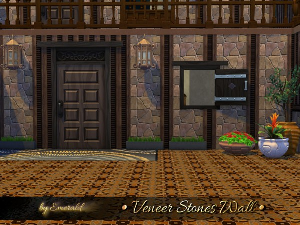 The Sims Resource: Veneer Stones Wall by emerald