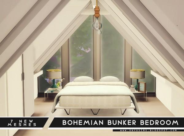 Onyx Sims: Bohemian Bunker Bedroom