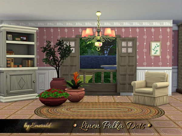 The Sims Resource: Linen Polka Dots by emerald