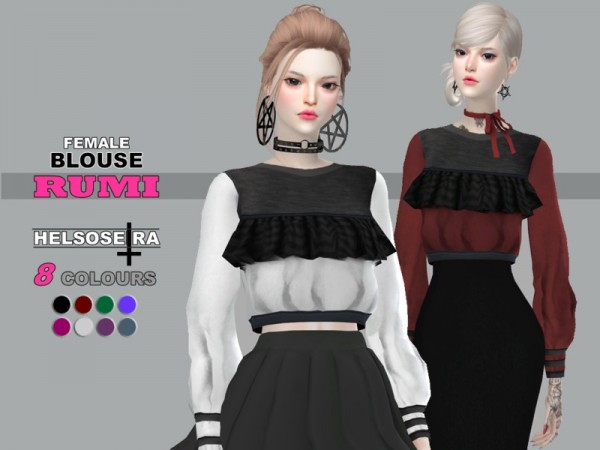 The Sims Resource: RUMI Blouse by Helsoseira
