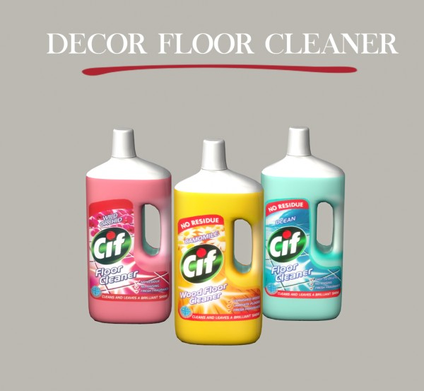 Leo 4 Sims: Decor floor cleaner