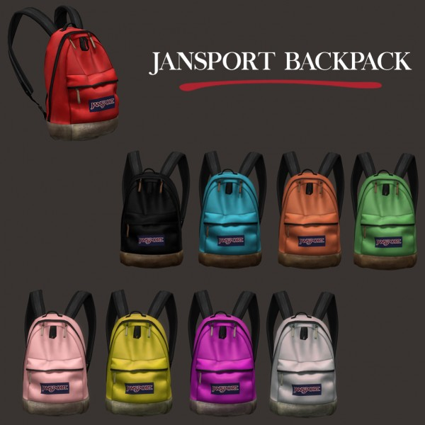 Leo 4 Sims: Jansport backpack