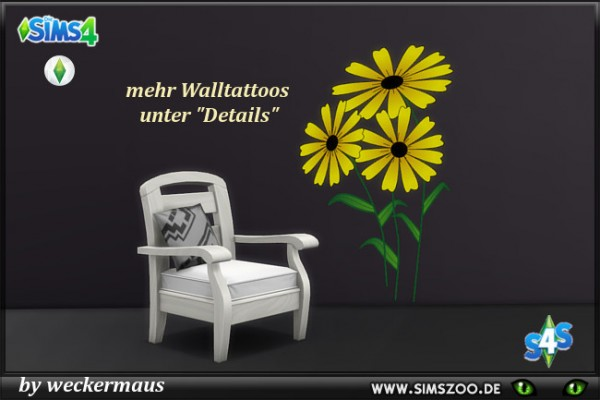 Blackys Sims 4 Zoo: Spring Wall Tattoos 2 by weckermaus