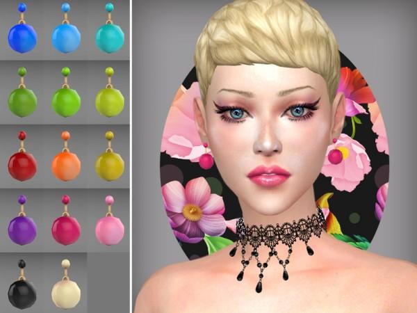 The Sims Resource: Sphere   earrings by WistfulCastle