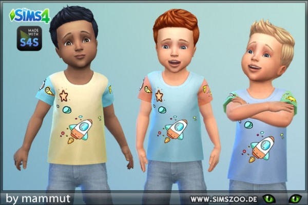 Blackys Sims 4 Zoo: Shirt Rocket 2 by mammut