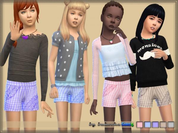 The Sims Resource: Shorts Plaid by bukovka