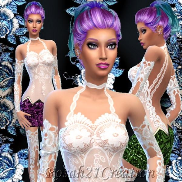 Sims Dentelle: Flowing dress