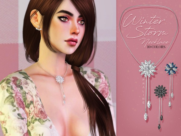 The Sims Resource: Winter Storm Necklace by Pralinesims