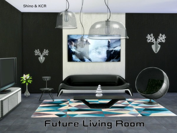 the sims resource living future by shinokcr sims 4. Black Bedroom Furniture Sets. Home Design Ideas