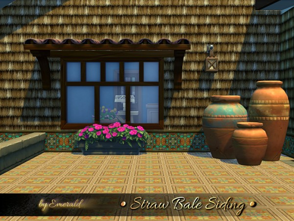 The Sims Resource: Straw Bale Siding by emerald